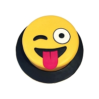 Tongue Out Winky Face Emoji Cake